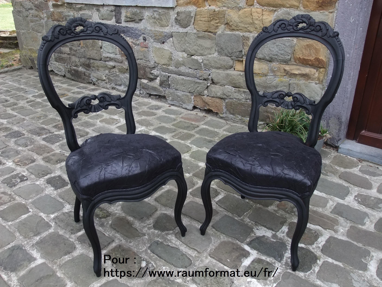 Paire de chaises Louis-Philippe
