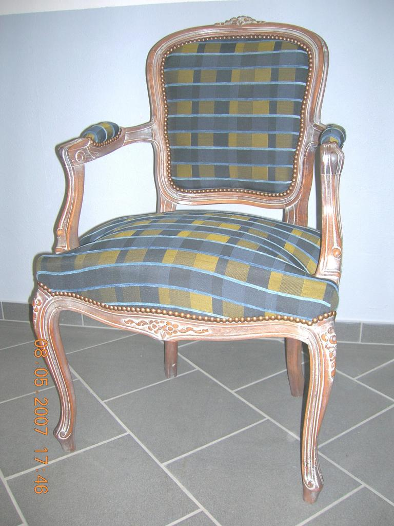 Cabriolet Louis XV cérusé