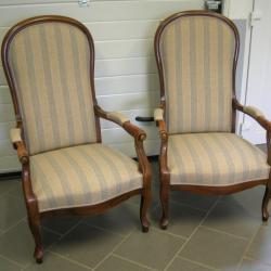 Paire de fauteuil Voltaire Violon