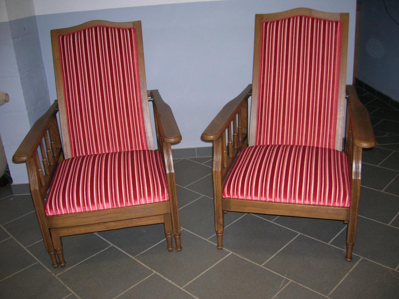 Paire de fauteuils inclinables